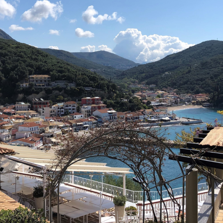 Beautiful Greece Mountainside overlooking the water