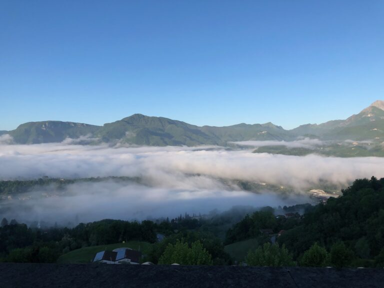 Photograph of the clouds over Barga From The Personal Collection of Helene and Zaf