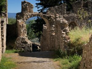 Photograph of Mystras Castle From the Personal Collection of Helene and Zaf