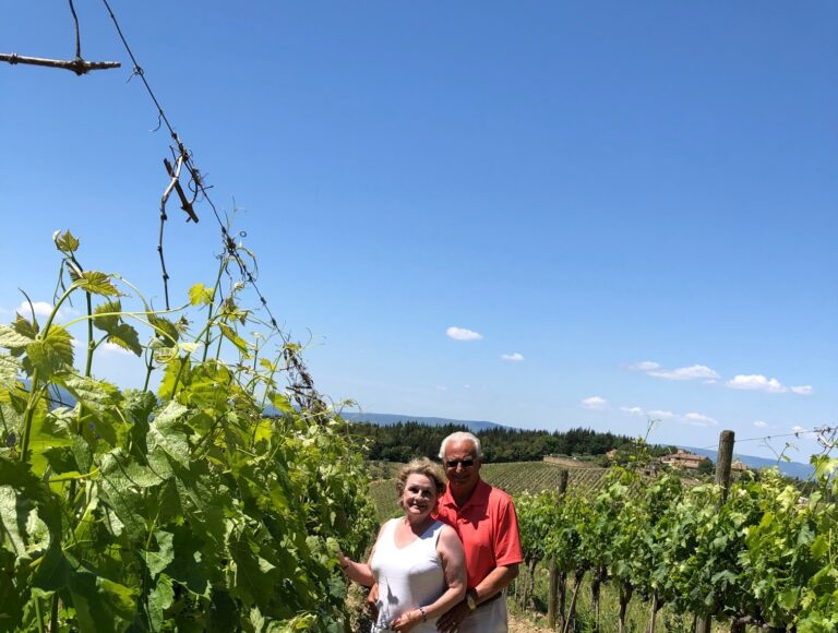 Photograph of the Chianti Vineyards From The Personal Collection of Helene and Zaf