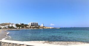 Photograph of a Paros beach from The Personal Collection of Helene and Zaf