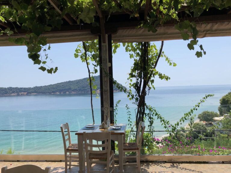 A Beautiful Spot to Eat in Thassos