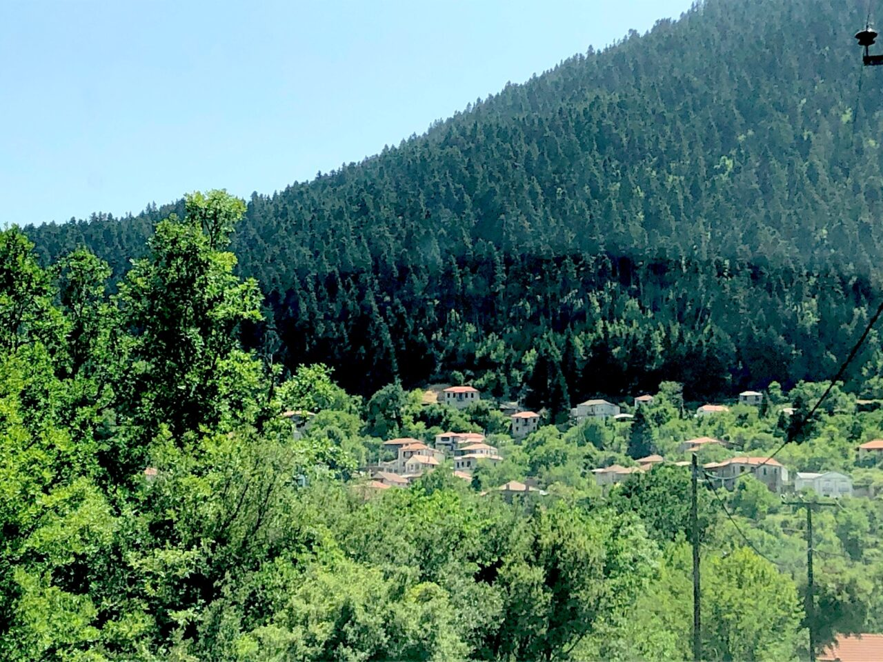 Photo of Mikro Horio in the Mountains From the Personal Collection of Helene and Zaf